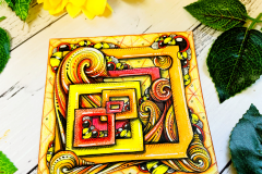 Focus on Imbedded Zentangle Tile