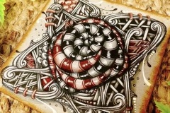 Magnified Fragment A3 by Chrissie Murphy Designs